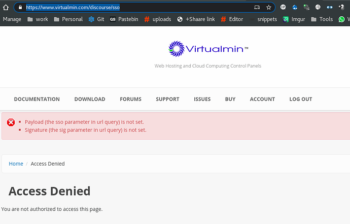 virtualmin-sso-not-working